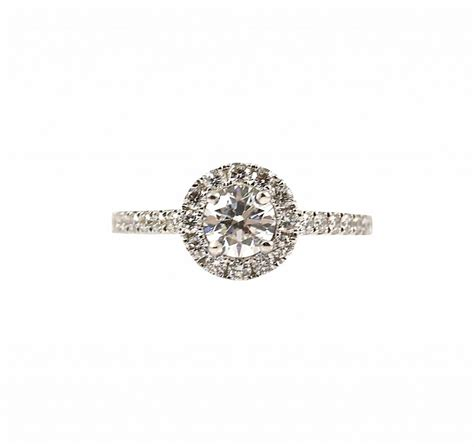 diamond halo engagement ring b23255 diamonds pearls perth