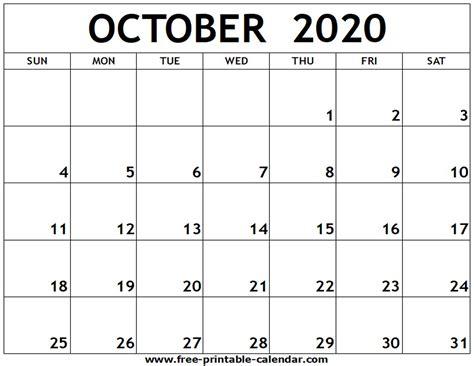 october printable calendar printable calendarcom