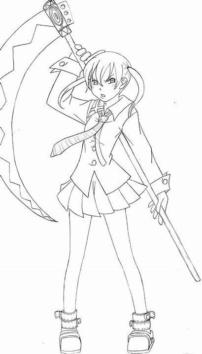 Anime Eater Soul Coloring Manga Kolorowanki Pedia
