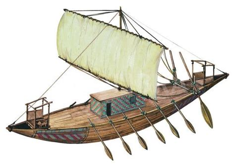 Mesektet Boat by Artist S Reconstruction Of An Ancient Trading