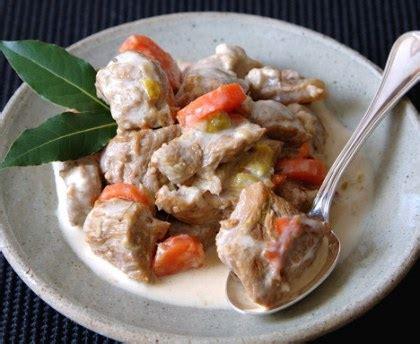 cuisine vin de blanquette de veau facile recette de blanquette de veau