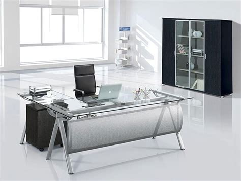 Office Desk Glass Cover by Glass Executive Desk Home Furniture Design