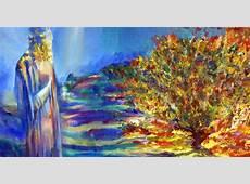 Moses Stands at the Burning Bush Shemot Art Parshah