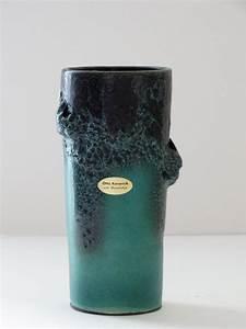Vase Bleu Canard : otto keramik mid century rare teal black fat lava west german vase by pastercorte on etsy ~ Melissatoandfro.com Idées de Décoration