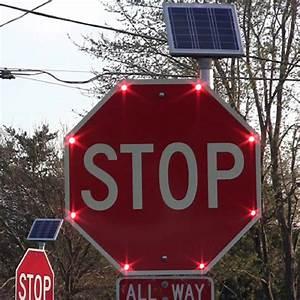 Solar, Led, Stop, Sign, 30, U0026quot
