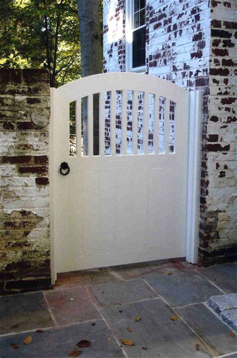 cottage window treatments white wood garden gate traditional landscape dc