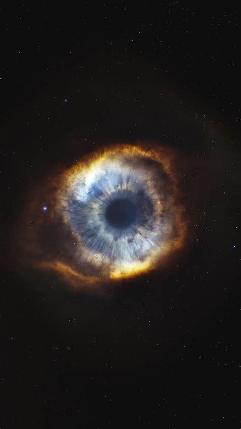 wallpaper helix nebula starry sky eye stars galaxy
