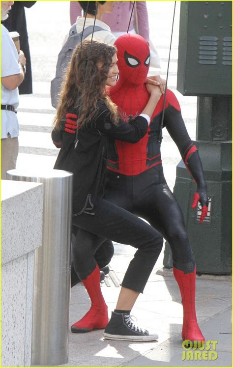 Tom Holland Dons 'Spider Man: Far From Home' Costume While