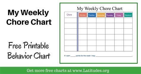 weekly chore chart free weekly chore chart colorful acn latitudes