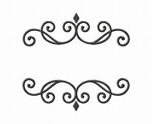 Elegant Monogram Font Frame Machine Embroidery Design