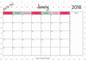 Download your free 2018 monthly printable calendar now