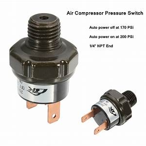 Air Compressor Tank Pressure Switch 170psi On To 200psi