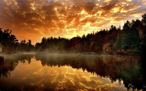reflected lake autumn water nature desktop  hd wallpaper  wallpaperscom