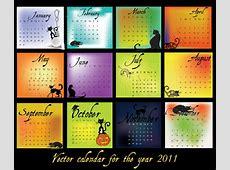 Calendar 2011 black theme vector Free Vector 4Vector