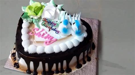 heart shaped chocolate cake decoration youtube