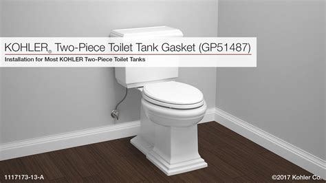 Installation  Toilet Tank And Tank Gasket (gp51487) Youtube
