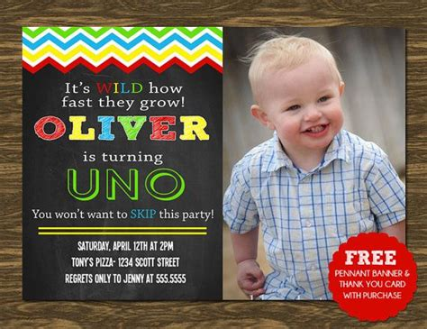 UNO Birthday Invitation Printable FREE pennant banner