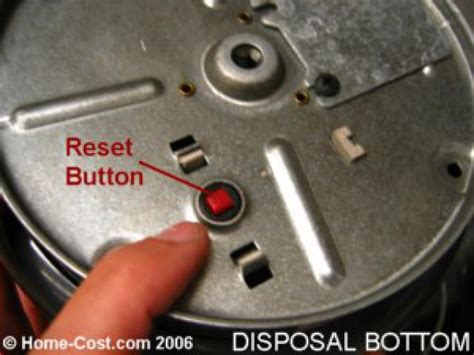 Garbage Disposal Leaking From Reset Button how to repair a garbage disposal