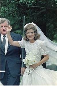 caroline kennedy with her uncle teddy on her wedding day With tatiana schlossberg wedding dress