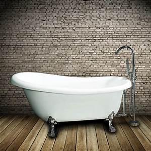 Petite Baignoire Retro : baignoire lot r tro en acrylique richmond ~ Edinachiropracticcenter.com Idées de Décoration