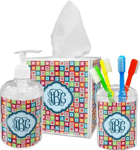 retro squares tissue box cover personalized baby n toddler