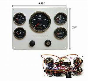 White Volvo Diesel Engine Instrument Panel  Black Gauges