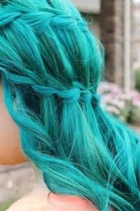 aqua hair color aqua blue bright colored hair image 642559 on favim