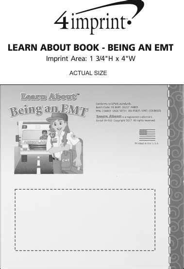 4imprintcom Learn About Book  Being An Emt 143262emt