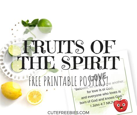 fruit   spirit  printable  kids  adults