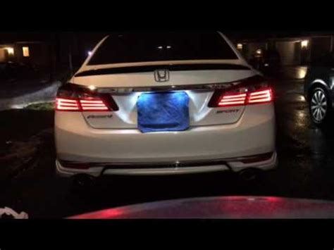 honda accord brake light leds youtube