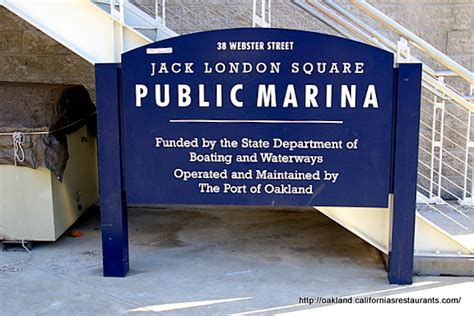 Jack London Square Public Marina Sign Oakland