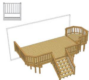20 x 12 deck w 5 x 8 step up area at menards 174