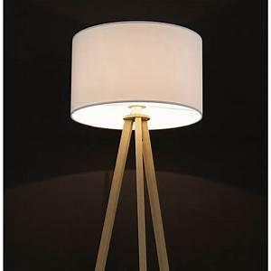 Lampes Sur Pied : lampe sur pied de style scandinave trani en tissu blanc ~ Melissatoandfro.com Idées de Décoration
