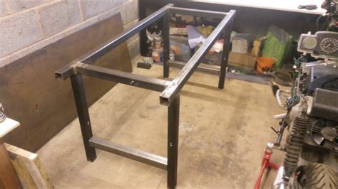 garage steel workbench youtube
