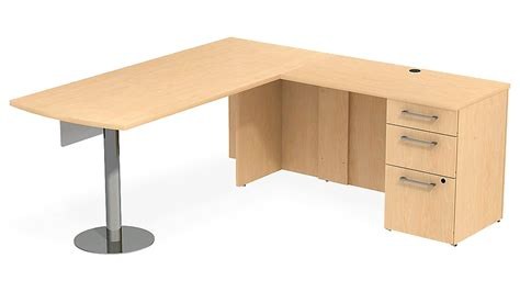 modesty panel for desk bbf realize peninsula desk in l configuration glass