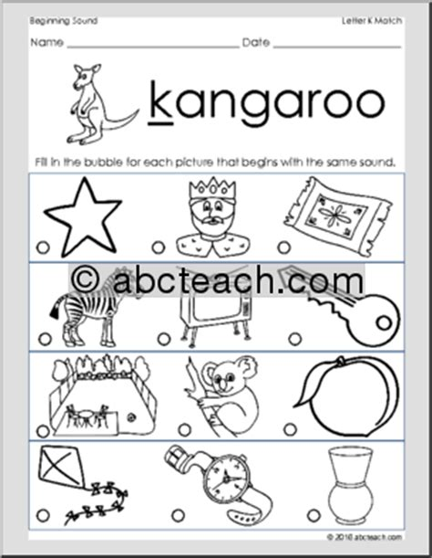 color beginning with k beginning sounds clipart 65