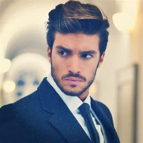 mens medium length hairstyles  thick straight hair