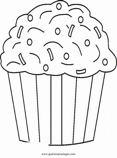 Cupcake Coloring Sprinkles Muffin Colorare Malvorlage Cupcakes