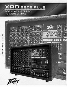 Peavey Music Mixer Xrd 680s Plus User Guide