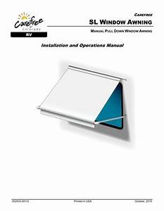 Sl Window Awning Owners Manual