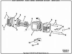 Homelite Hu36511 Series 3 650 Watt Generator Parts Diagram For Figure A