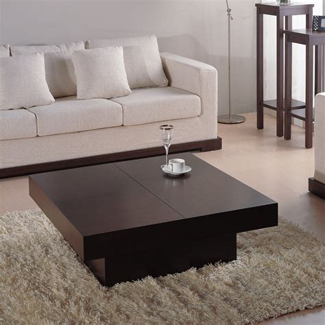 Furniture: Alluring Espresso Coffee Table For Stunning