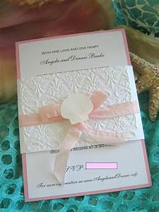 17 best images about refined wedding stationery on With embossed seashell wedding invitations