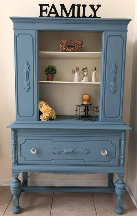 cabinet  stillwater blue antique white general