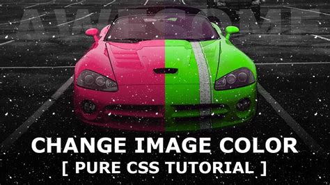 change image color  hover  css mix blend mode pure css hover effects youtube