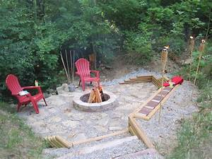 Creating a Creek Stone Patio & Fire Pit Hometalk