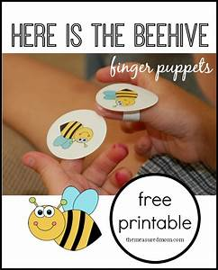 here is the beehive rhyme for kids with finger puppets With bee finger puppet template