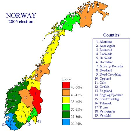 norway legislative election 2005 electoral geography 2 0