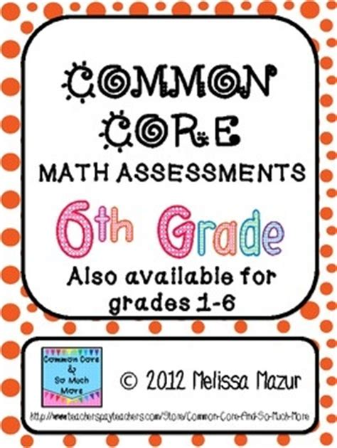 Common Core Math Activities For 6th Grade  6th Grade Math Pretest Common Core Beginning Of The