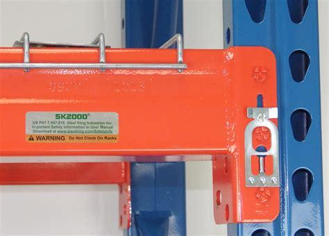 steel king pallet racking beam clip teardrop box   shelf clipscom